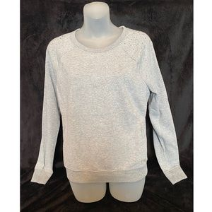 VS PINK Rhinestone Shoulders Sweatshirt Small